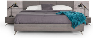 VIG Furniture Nova Domus Bronx Italian Modern Faux Concrete & Grey Bed, Eastern King