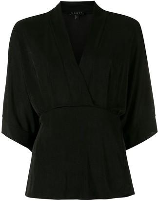 Alcaçuz Sabrina wrap-style blouse
