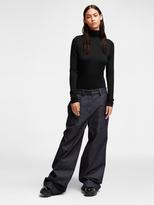 DKNY Wide Leg Logo Jeans