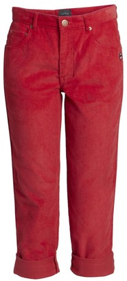 Marc Jacobs The Corduroy Mid-Rise Turn-Up Jeans