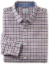 L.L. Bean Men's L.L.Bean Stretch Oxford Shirt, Slightly Fitted Plaid