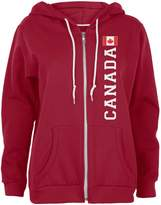 Old Glory Canada Flag World Cup Womens Full Zip Hoodie SM