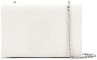 Giorgio Armani logo embroidered shoulder bag