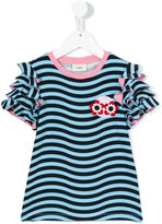Fendi striped T-shirt - kids - Cotton/Spandex/Elastane - 4 yrs