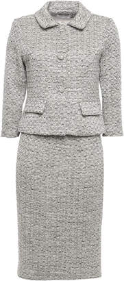 Mikael Aghal Metallic Tweed Skirt Suit