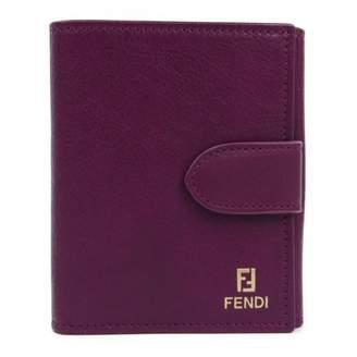 Fendi Purple Leather Wallets