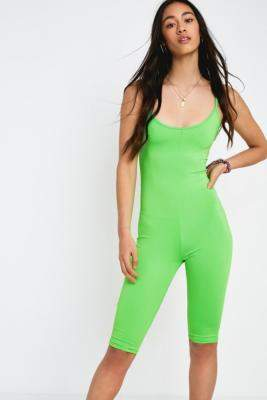 Urban Outfitters Neon Green Unitard - green XS at
