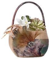 Lillian Rose Camouflage Flower Bucket - Beige