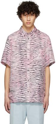 Sies Marjan Pink and Black Silk Rooney Shirt