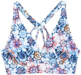 Next Rising Sun Floral Sport Bikini Top