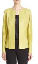 Lafayette 148 New York 'Maris' Lambskin Leather Jacket