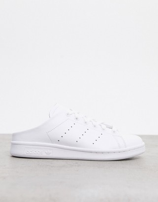 adidas Stan Smith sneaker mules in white