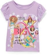Children's Apparel Network Barbie Purple Cap-Sleeve Tee - Girls