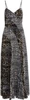 Haute Hippie Velvet and printed silk-chiffon maxi dress