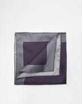 Ted Baker Silk Pocket Square - Purple