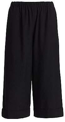 Comme des Garcons Women's Wide-Leg Cuffed Cropped Pants