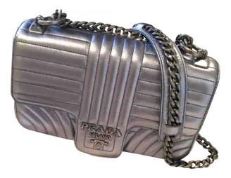 Prada Diagramme Metallic Leather Handbags