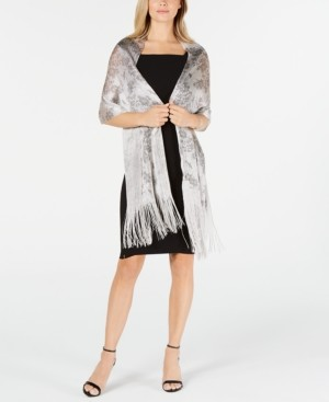 INC International Concepts Inc Floral Dream Fringed Net Wrap, Created for Macy's