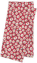 One Kings Lane Set of 4 Cotton Daisy Napkins - Red