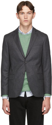 Officine Generale Grey Wool 375 Blazer