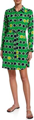 Trina Turk Redondo Sunglasses Printed Shirt Dress
