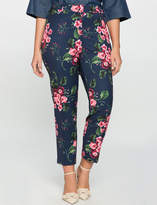 ELOQUII Plus Size Kady Fit Printed Crepe Pant