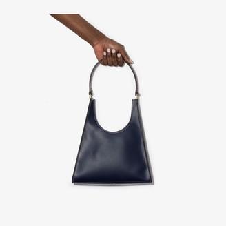 STAUD Navy Rey Leather Shoulder Bag