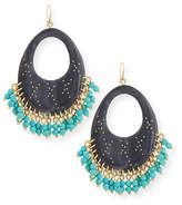 Ashley Pittman Vuka Beaded Dark Horn Earrings