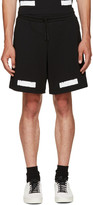 Off-White Black Brushed Diagonals Shorts