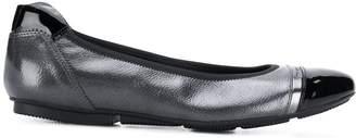 Hogan contrast panel ballerina shoes