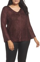 Nic+Zoe Plus Size Women's Cable Wave Sweater