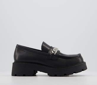 Vagabond Cosmo Chain Loafers Black