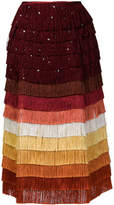 Marco De Vincenzo tiered fringe skirt