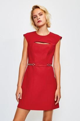 Karen Millen Chain Belt A-Line Dress
