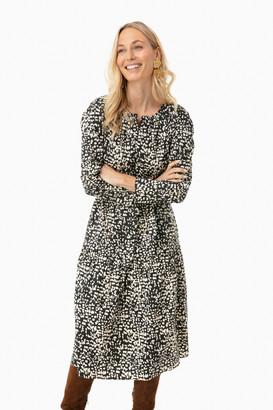 La Vie Rebecca Taylor Long Sleeve Dot Print Dress