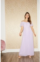 Thumbnail for your product : Little Mistress Vita Lilac Cold-Shoulder Maxi Dress