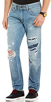 True Religion Geno Patched Slim Straight Jeans