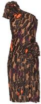 Versace One-shoulder Fil Coupé Dress