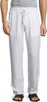 Vilebrequin Drawstring Linen Pants, White