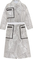 Vionnet Double-breasted printed voile coat