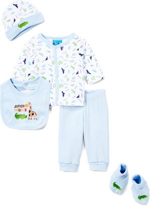 Sweet & Soft Boys' Casual Pants Light - Light Blue 'Jungle Friends' Cardigan Set - Infant