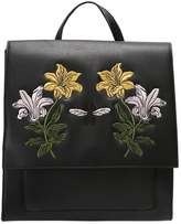 Missguided FLORAL EMBROIDERED CLEAN Rucksack black