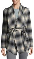 BB Dakota Plaid Wrap Coat