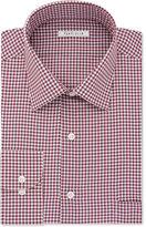 Van Heusen Men's Classic/Regular Fit Red Check Dress Shirt