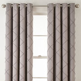 Liz Claiborne Kathryn Diamond Pleated Grommet-Top Curtain Panel