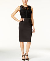 Thalia Sodi Mixed-Media Sheath Dress, Only at Macy's