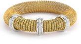 Alor Micro-Cable Pave Diamond Spring Coil Bracelet, Yellow, 0.54tcw