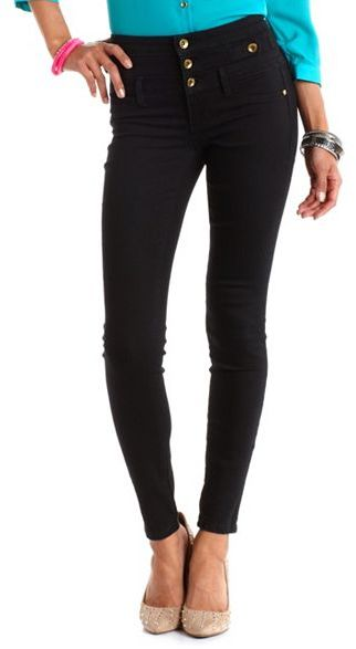 Charlotte Russe Refuge High-Waist Skinny Jean