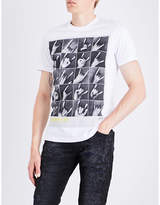 Diesel T-joe-qr Printed Cotton-jersey T-shirt