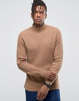 Selected Ribbed Knit with High Neck